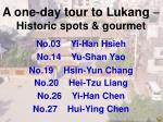 a one day tour to lukang historic spots gourmet