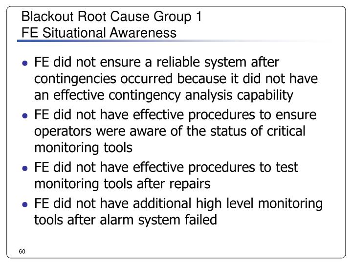 Blackout Root Cause Group 1