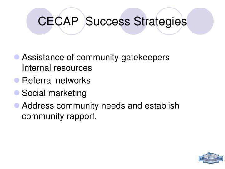 CECAP  Success Strategies
