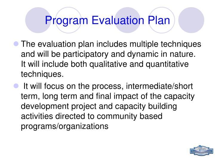 Program Evaluation Plan