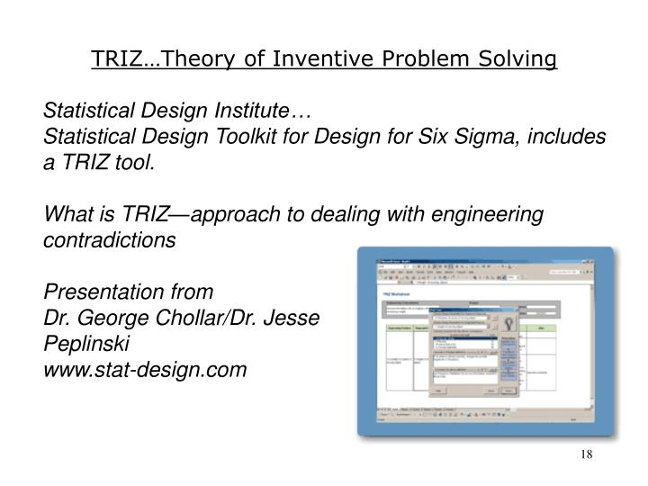 TRIZ…Theory of Inventive Problem Solving