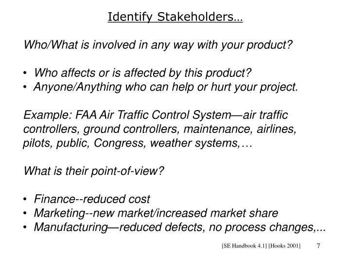 Identify Stakeholders…