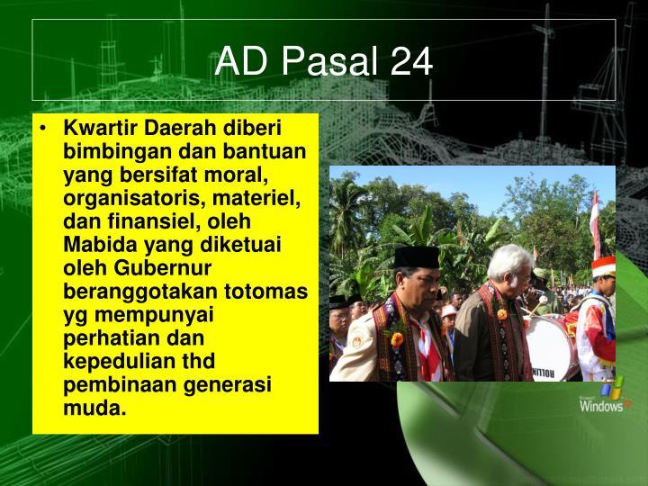 AD Pasal 24