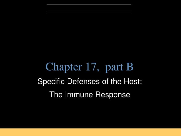Chapter 17,  part B