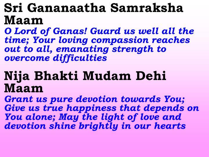Sri Gananaatha Samraksha Maam