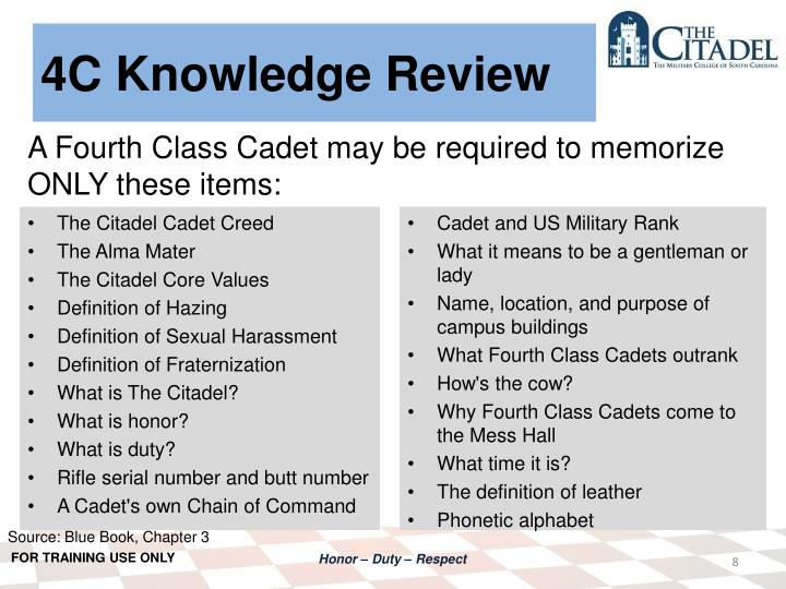 4C Knowledge Review