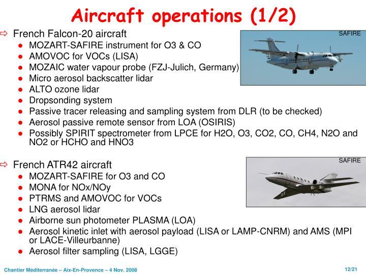 Aircraft operations (1/2)