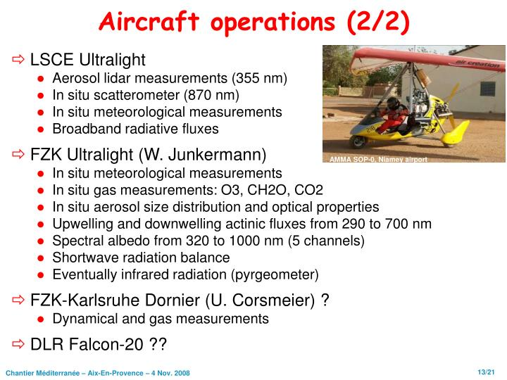 Aircraft operations (2/2)