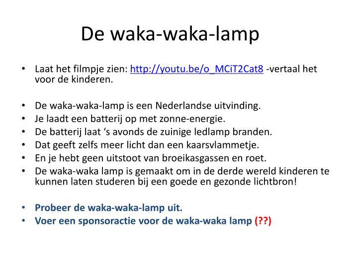 De waka-waka-lamp