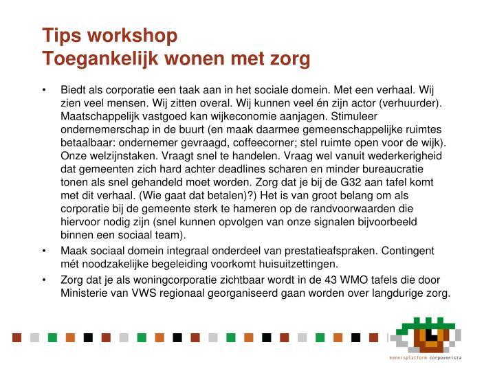 Tips workshop