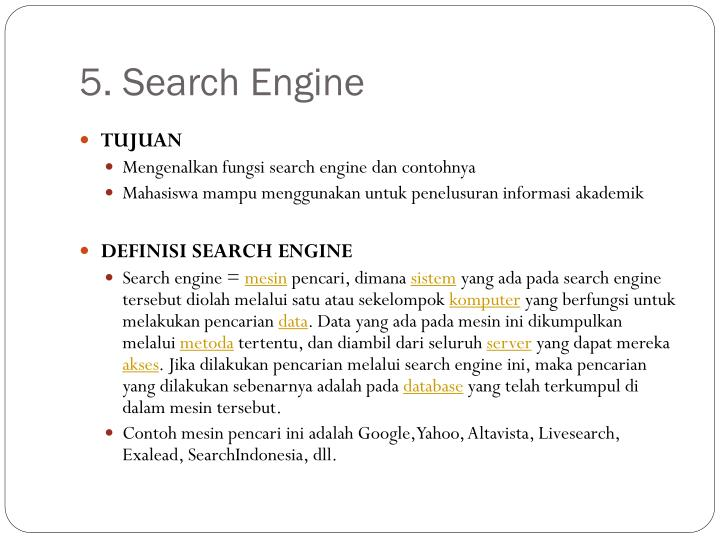 5. Search Engine