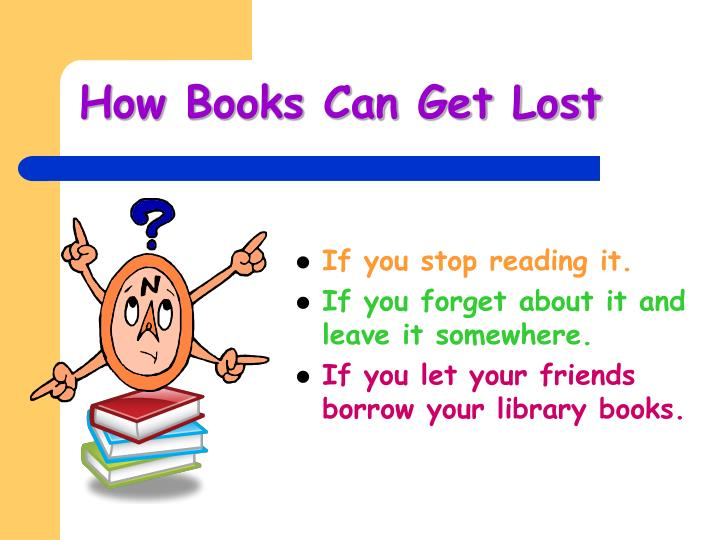 How Books Can Get Lost