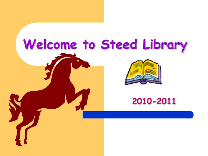 Welcome to steed library