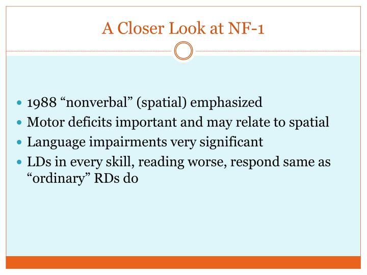 A Closer Look at NF-1