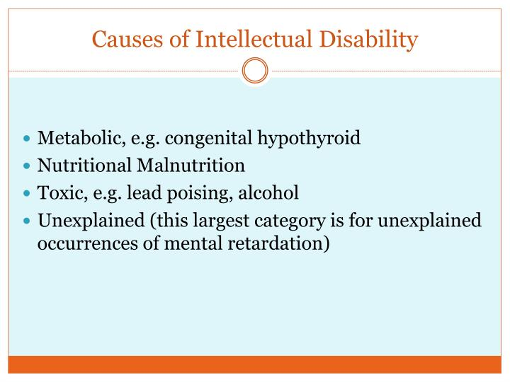 Causes of Intellectual Disability