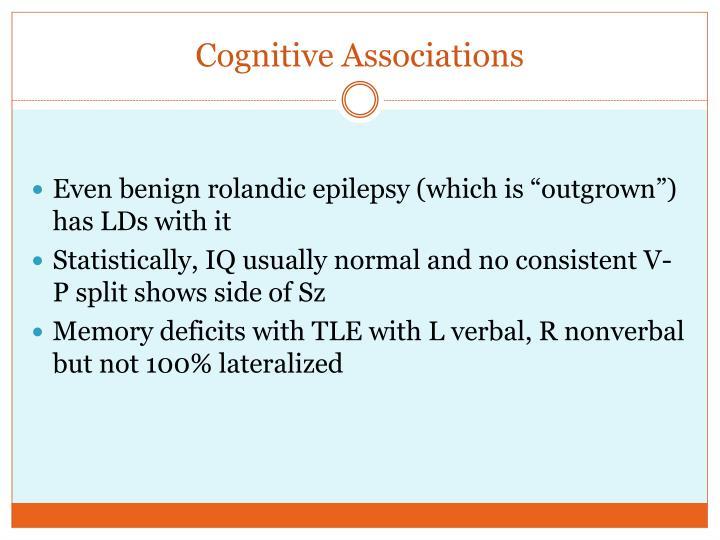 Cognitive Associations