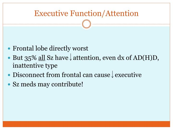 Executive Function/Attention