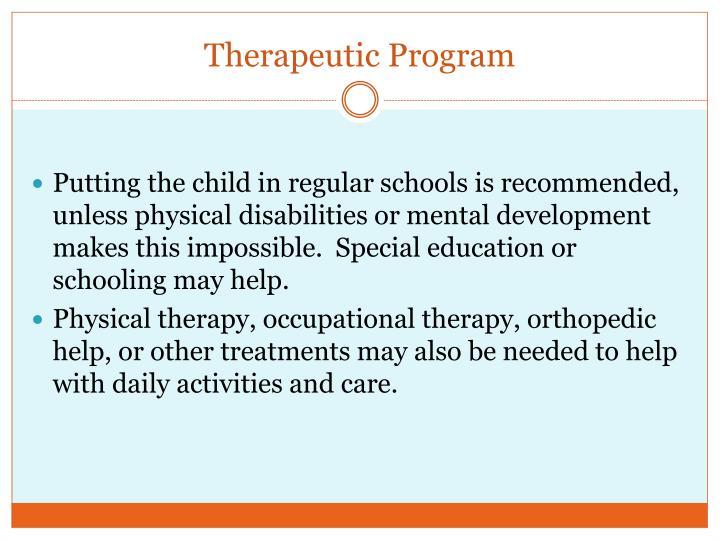 Therapeutic Program