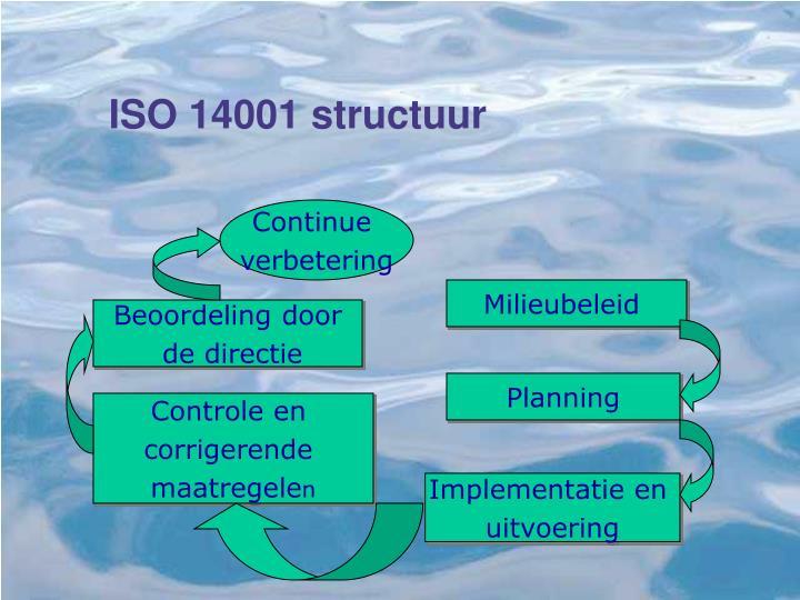 ISO 14001 structuur