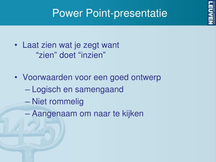 Power Point-presentatie