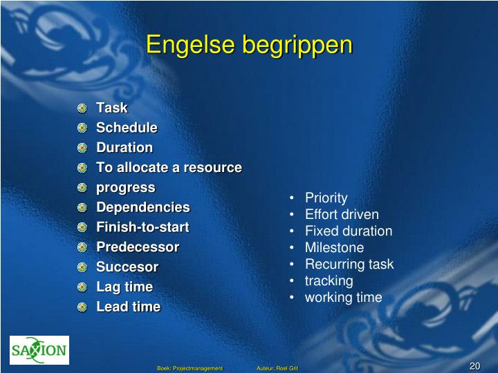 Engelse begrippen