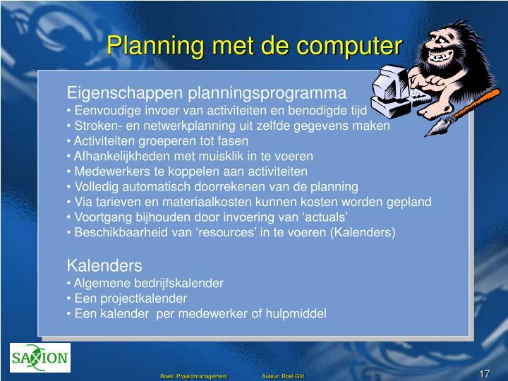 Planning met de computer
