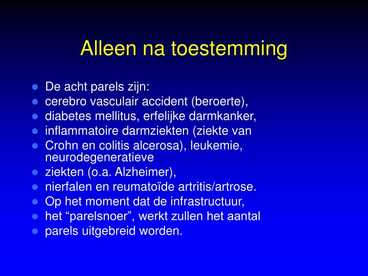 Alleen na toestemming
