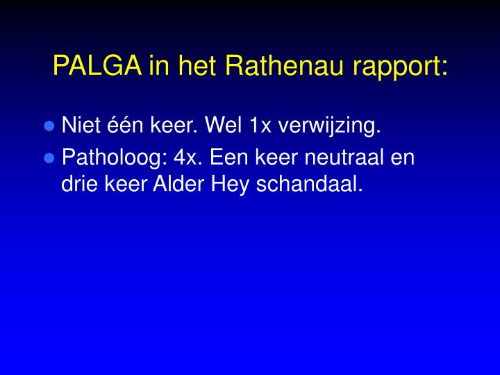 PALGA in het Rathenau rapport: