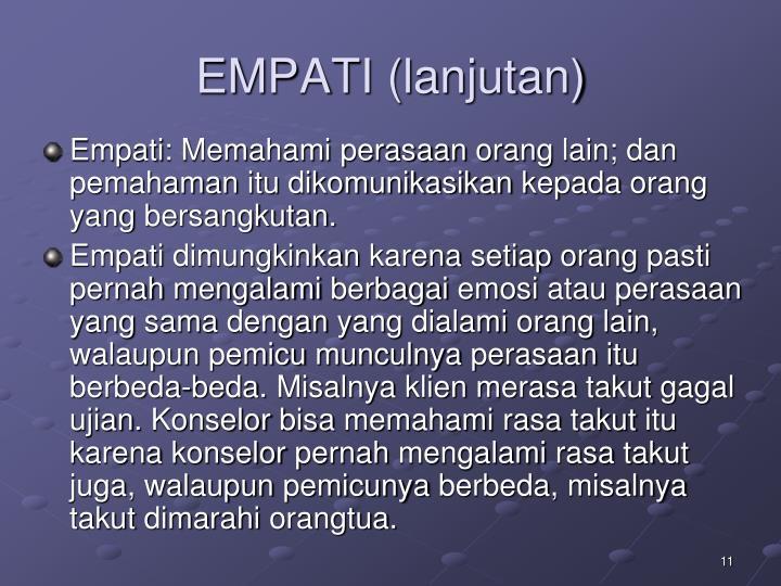 EMPATI (lanjutan)
