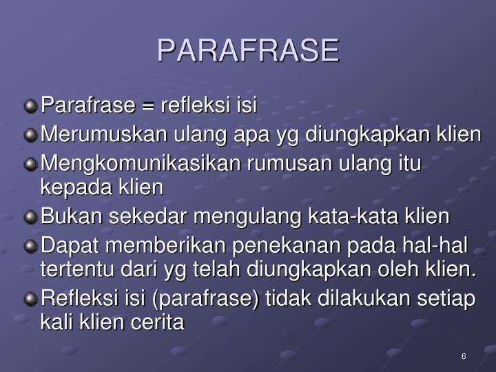 PARAFRASE