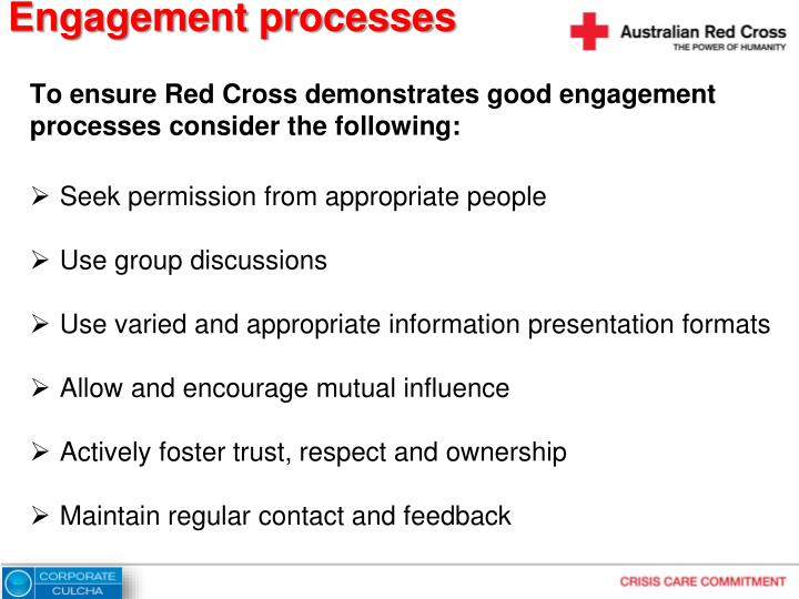 Engagement processes