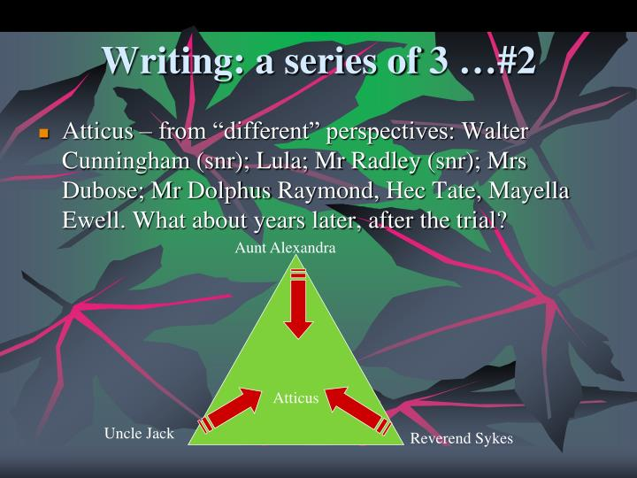 Writing: a series of 3 …#2