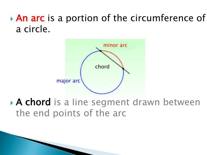 An arc