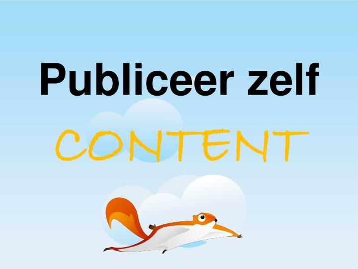 Publiceer zelf