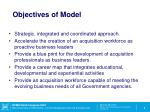 objectives of model