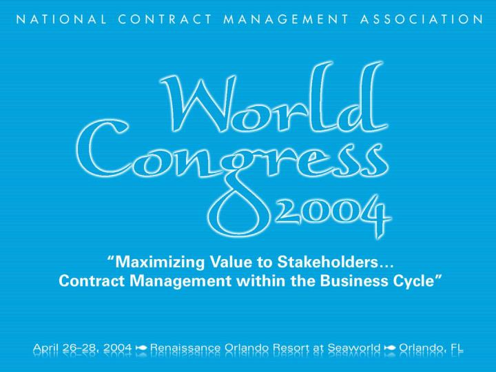 NCMA World Congress 2004