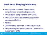 workforce shaping initiatives