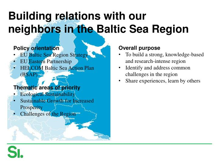 Building relations with our neighbors in the Baltic Sea Region