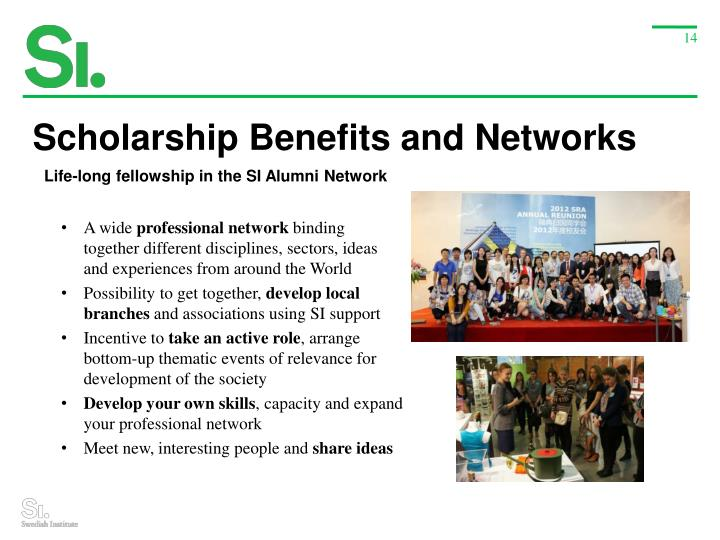 Scholarship Benefits and Networks
