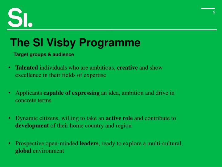 The SI Visby Programme