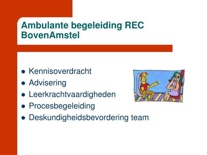 Ambulante begeleiding REC BovenAmstel