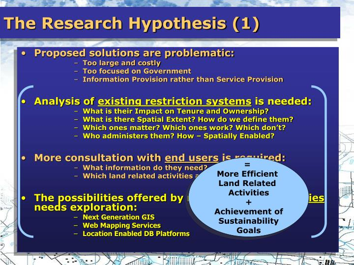 The Research Hypothesis (1)