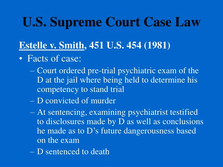 U.S. Supreme Court Case Law