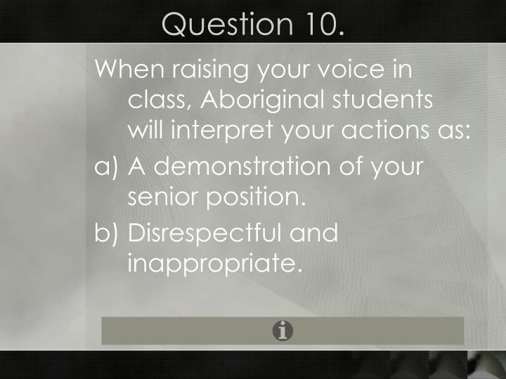 Question 10.