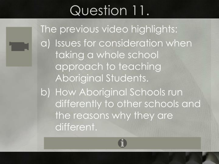 Question 11.