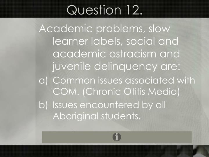 Question 12.