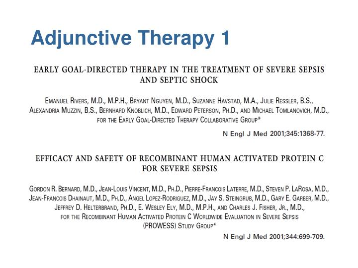Adjunctive Therapy 1
