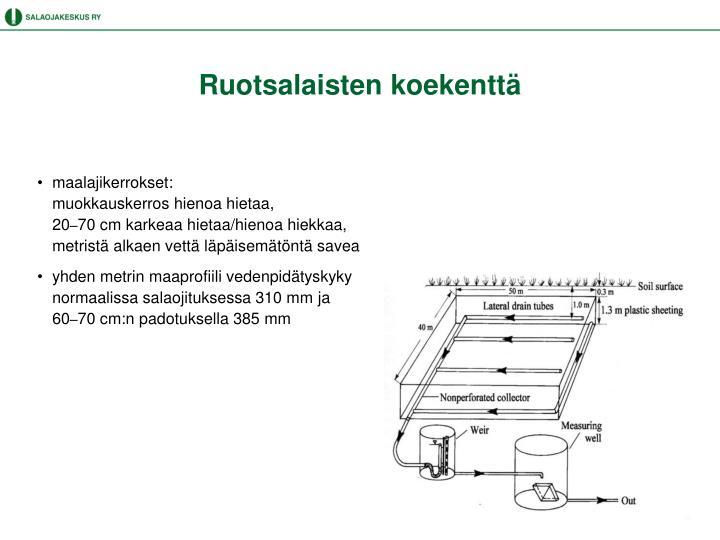 Ruotsalaisten koekenttä