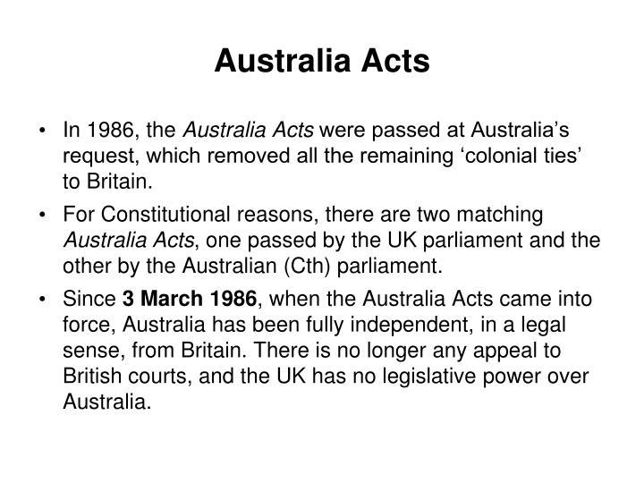 Australia Acts