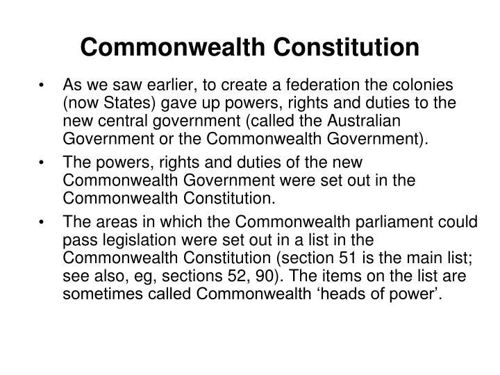 Commonwealth Constitution